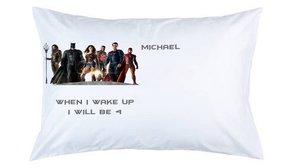 Justice League Personalised Pillow Case