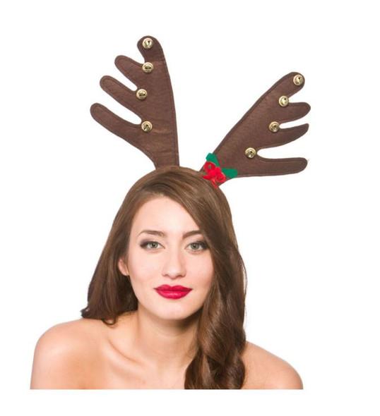 Deluxe Reindeer Antlers with Bells