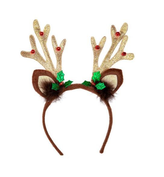 Christmas Glitter Reindeer Antlers
