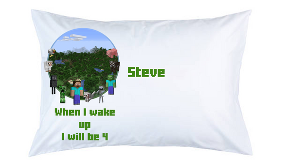 Minecraft Personalised Pillow Case