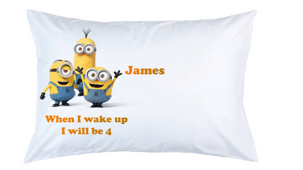 Minions Personalised Pillow Case