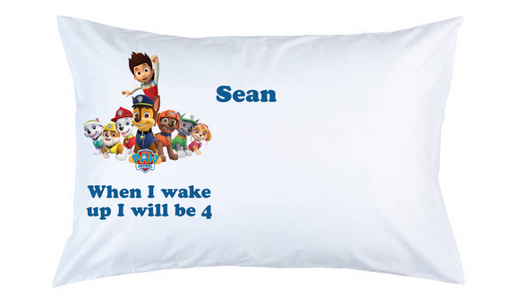 Paw Patrol Personalised Pillow Case