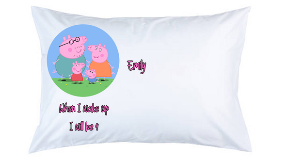 Peppa Pig Personalised Pillow Case