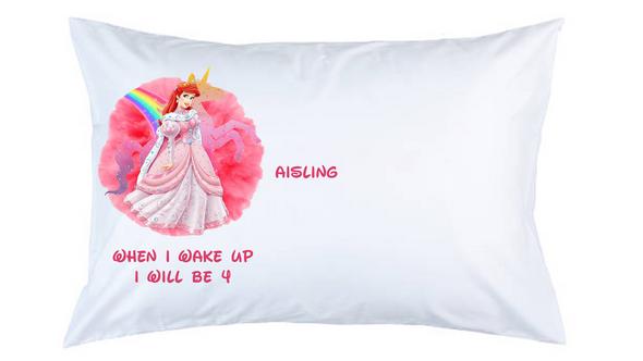 Pink Princess Personalised Pillow Case