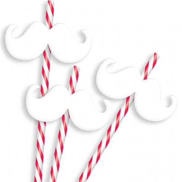 Christmas Moustache Straws