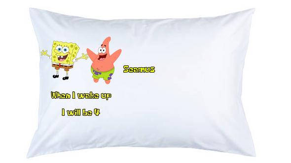 SpongeBob Personalised Pillow Case