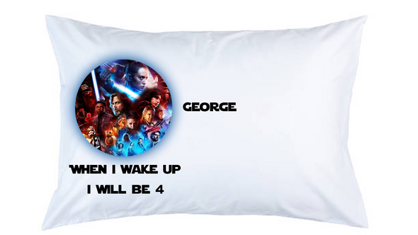 Star Wars Personalised Pillow Case