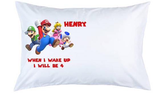 Super Mario Personalised Pillow Case