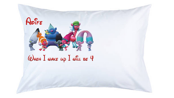 Trolls Personalised Pillow Case