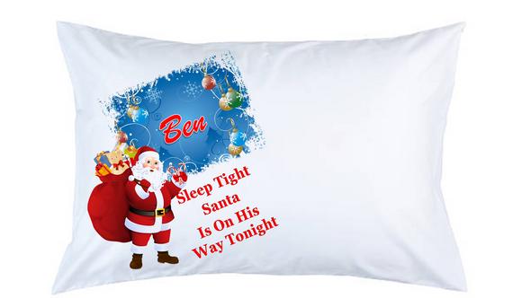 Santa Personalised Christmas Pillow Case