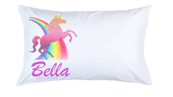 Sparkle Unicorn Personalised Pillow Case