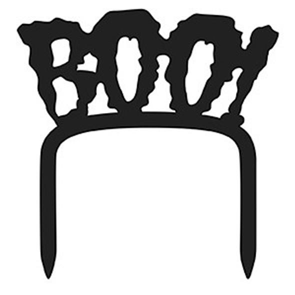 Black Halloween Boo Cake Topper