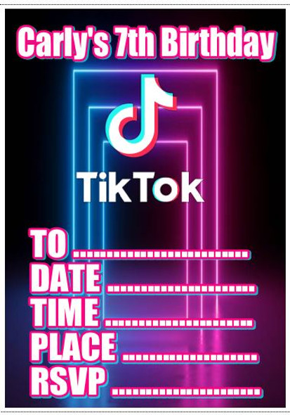 Tik Tok Invitations