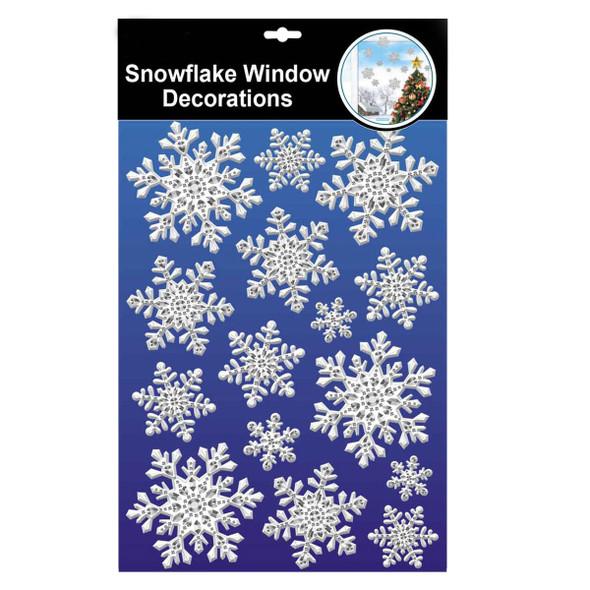 Embossed Snowflake Window Stickers