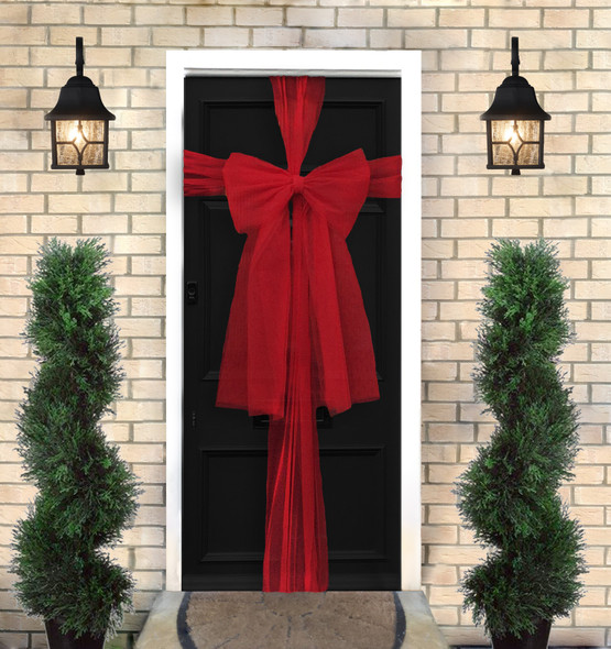 Red Christmas Door Bow (9m)