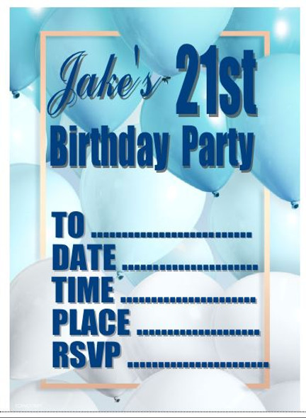 Personalised Boys Party Invites