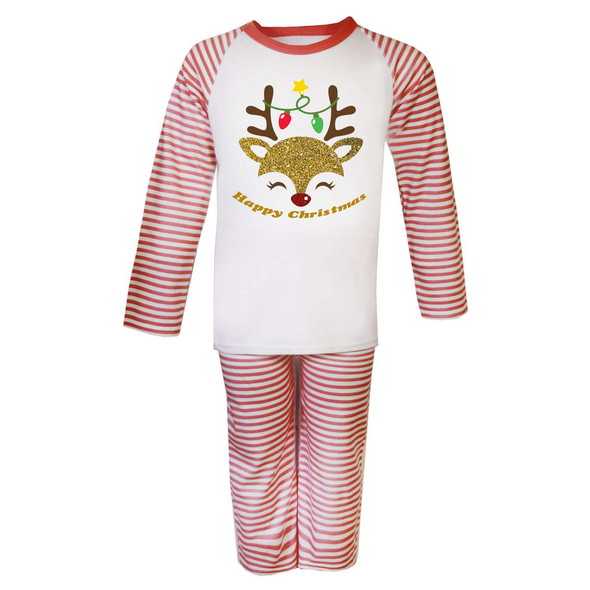 Reindeer Christmas Mens Pyjamas Set