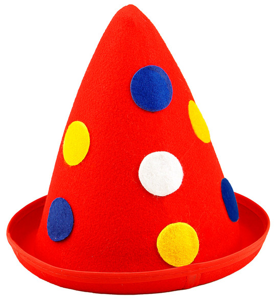 Red Cone Clown Hat