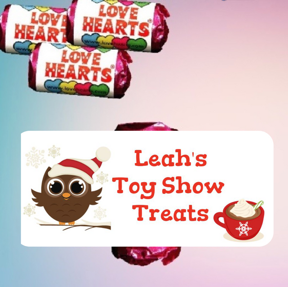Personalised Toy Show Loveheart Sweets (9 Pack)