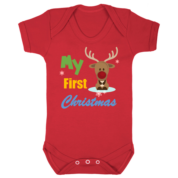 My First Christmas Baby Vest
