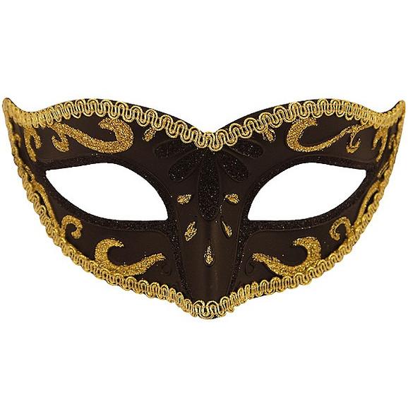 Black & Gold Glitter Eyemask