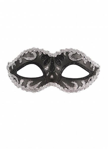 Black & Silver Glitter Eyemask