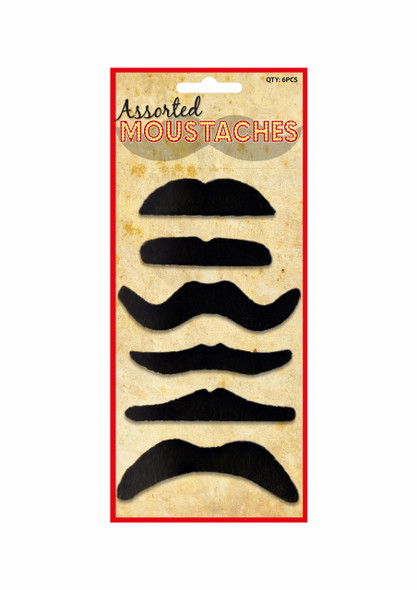 Black Assorted Moustaches