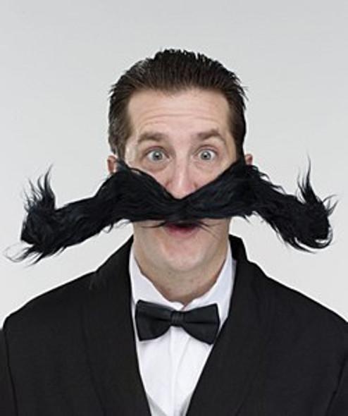 Black Bendy Moustache