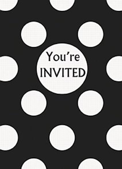 Black Dots Party Invitations