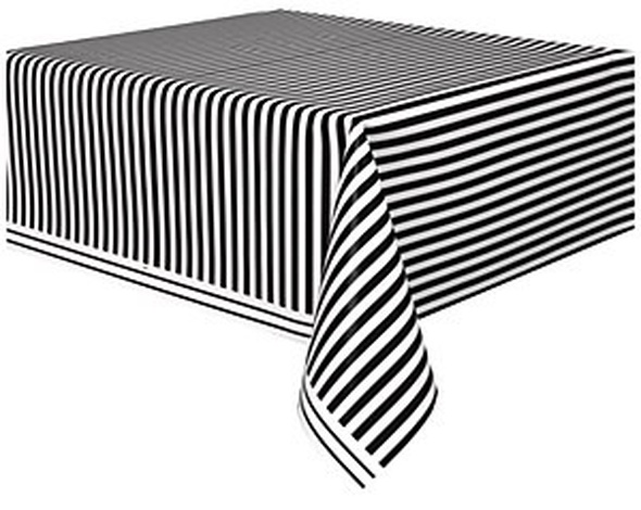 Black Striped Tablecover