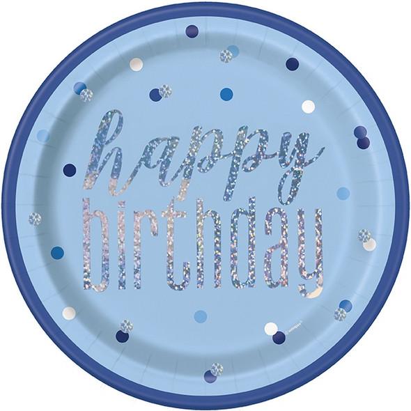 Blue Dots Birthday Plates