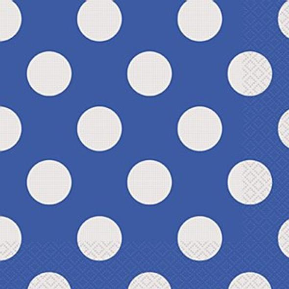 Blue Dots Paper Napkins