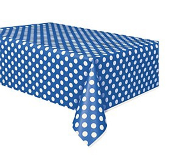 Blue Dots Plastic Tablecover