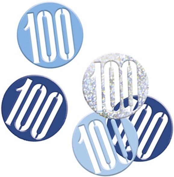 Blue Glitz 100th Confetti