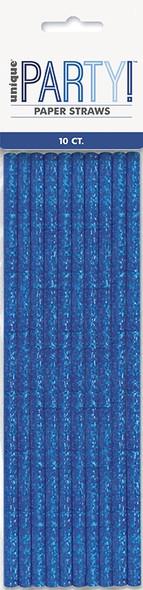 Blue Glitz Party Straws