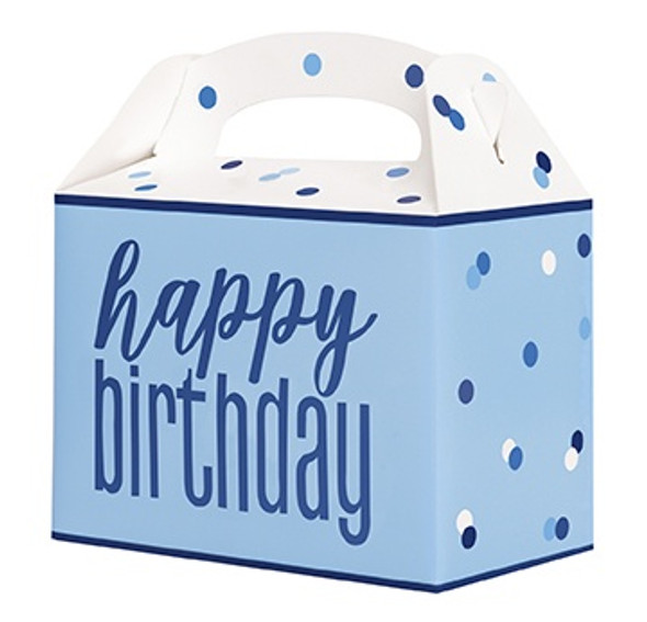 Blue Glitz Birthday Boxes