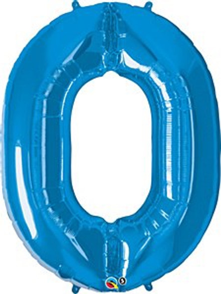 Blue Number 0 Balloon