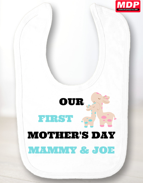 Boys First Mothers Day Bib