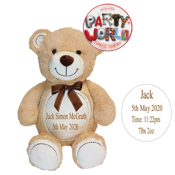 Brown Christening Teddy Bear
