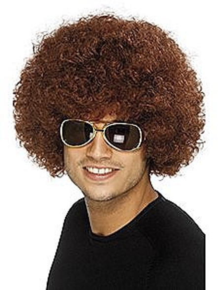 Brown Funky Afro Wig