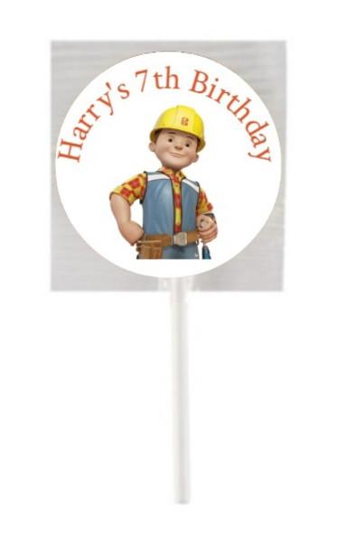 15 Bob The Builder Lollipops