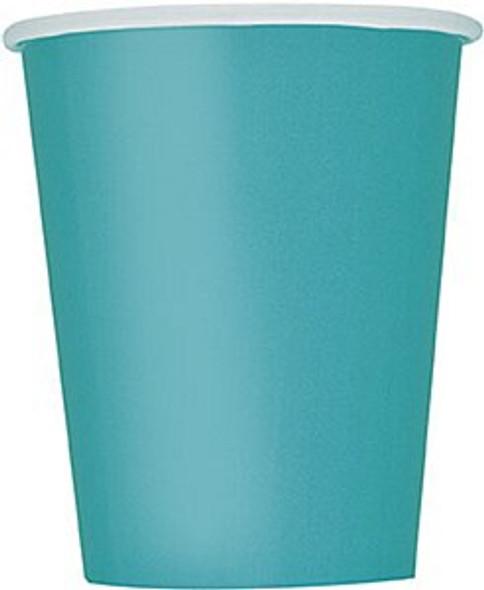 Caribbean Teal Paper Cups