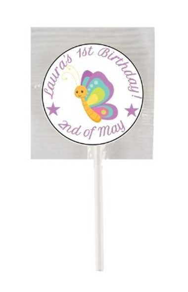 15PK 1st Bday Girl Lollipops