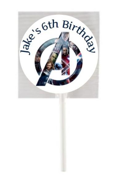 15Pk Avengers Lollipops