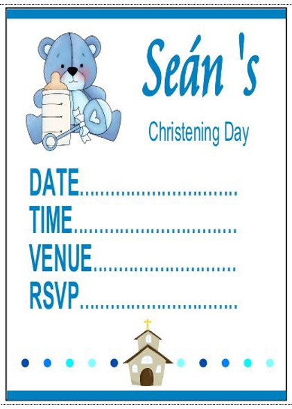Christening Boy Invitations