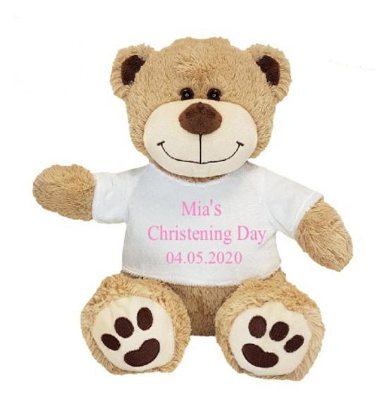 Christening Girl Teddy Bear