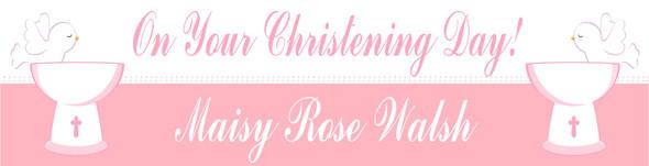 Christening Girl Banner