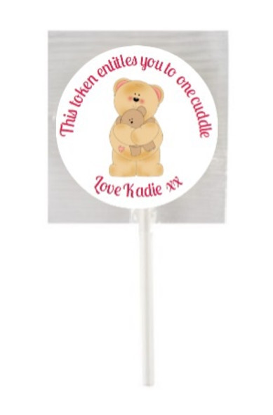 15Pk Bear Cuddles Lollipops