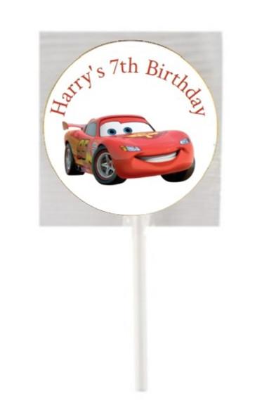 15PK Cars Lollipops