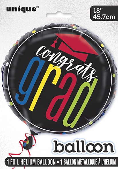 Colourful Cap Grad Balloon